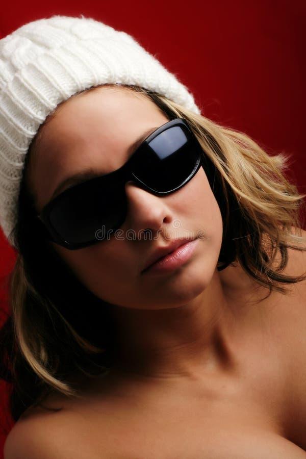 Bella donna in inverno fotografia stock libera da diritti