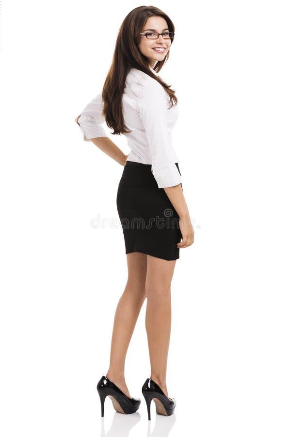 Bella donna ispanica di affari fotografie stock libere da diritti