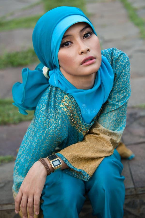 Bella donna musulmana fotografia stock