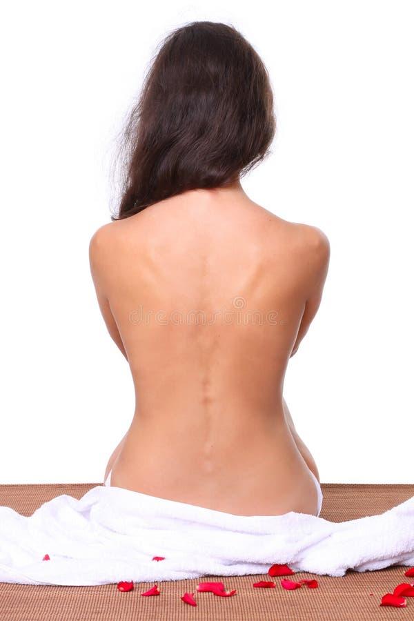 Bella donna: parte posteriore e spina dorsale fotografie stock