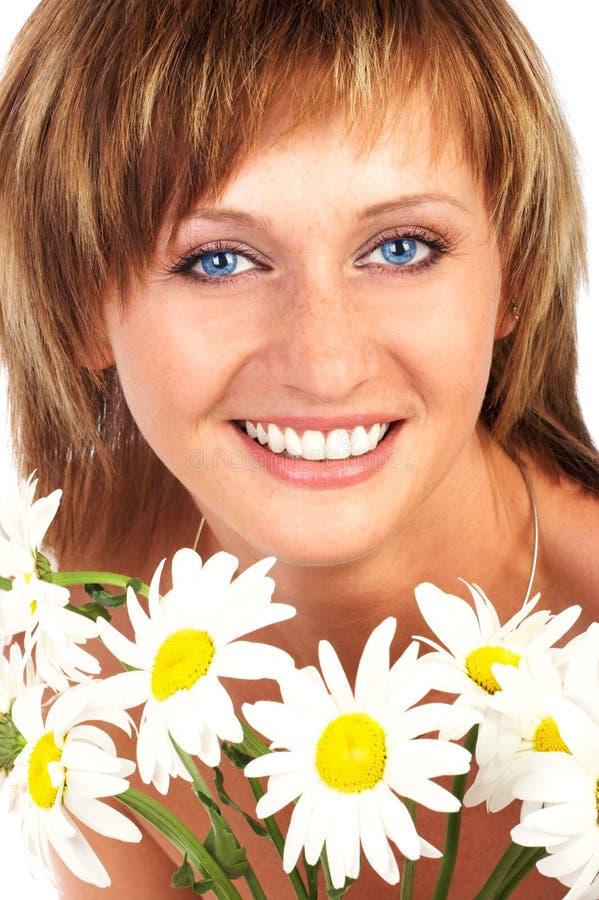 Bella donna sorridente immagini stock libere da diritti