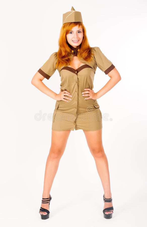 Download Bella Donna In Uniforme Militare Fotografia Stock - Immagine di caucasico, crimine: 30829418