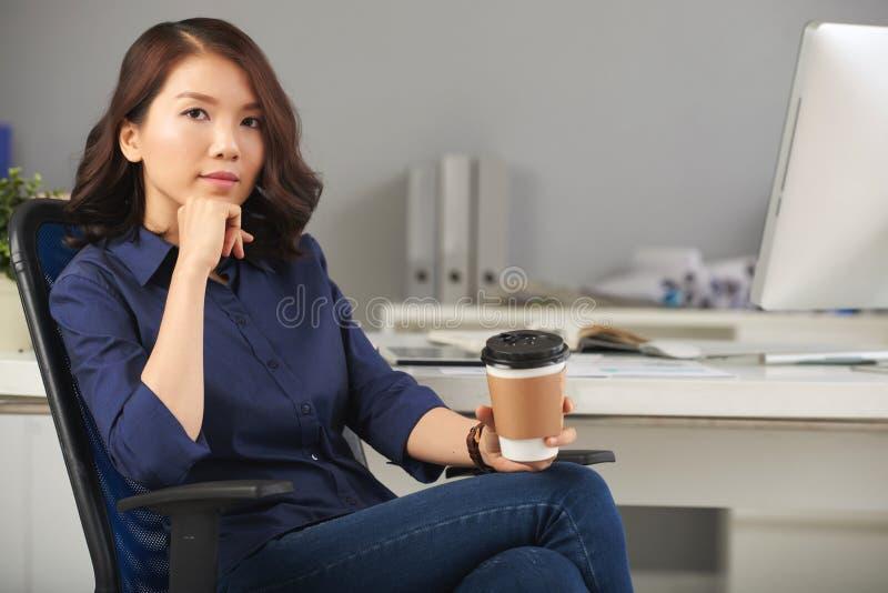 Bella e donna di affari sicura immagini stock