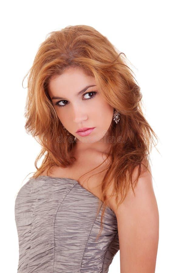 Bella e donna elegante immagini stock