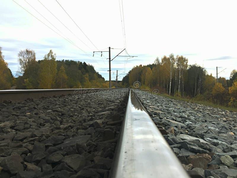 Bella e ferrovia brillante fotografia stock