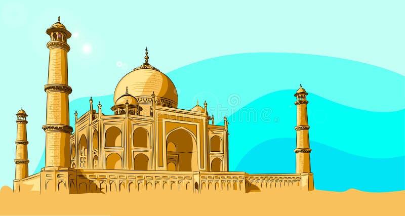 Bella e moschea unica a Costantinopoli illustrazione di stock