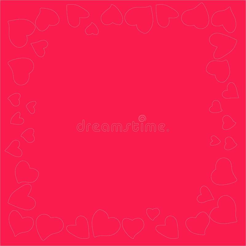 Bella e struttura originale dei cuori per le congratulazioni dentro con il giorno del ` s del biglietto di S. Valentino illustrazione di stock
