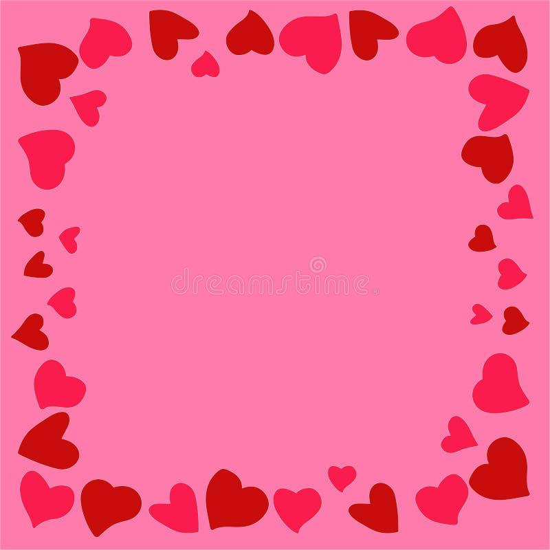 Bella e struttura originale dei cuori per le congratulazioni dentro con il giorno del ` s del biglietto di S. Valentino royalty illustrazione gratis
