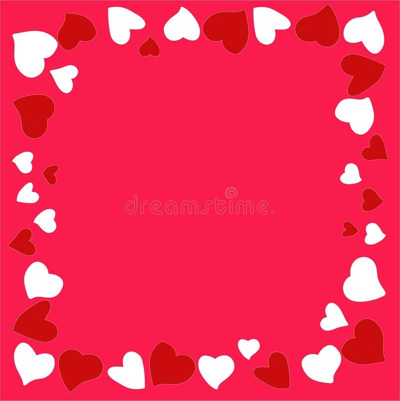 Bella e struttura originale dei cuori per le congratulazioni dentro con il giorno del ` s del biglietto di S. Valentino illustrazione vettoriale
