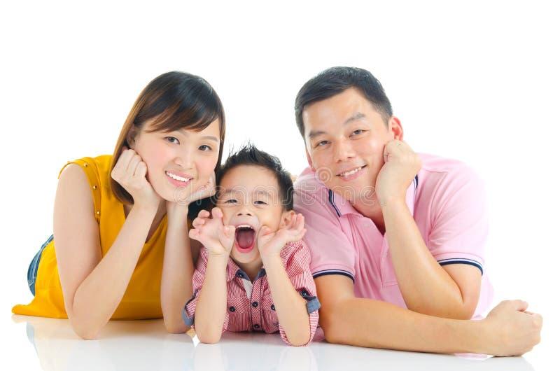 Bella famiglia asiatica fotografia stock libera da diritti