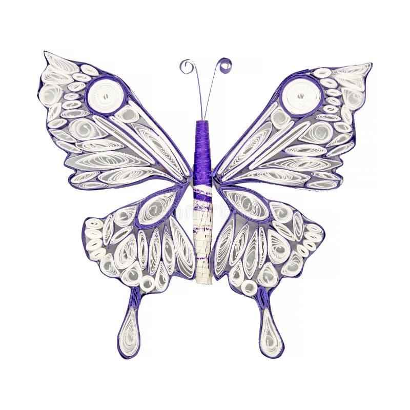 Bella farfalla fatta nella tecnica quilling Arte della carta fatta a mano fotografia stock libera da diritti