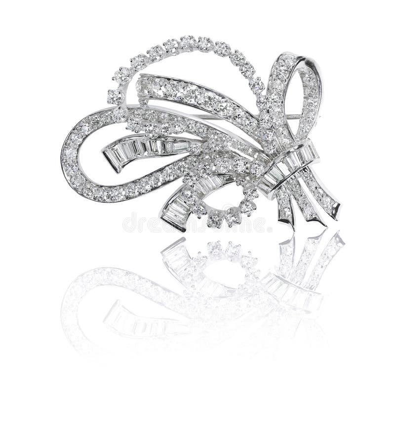 Bella fibula antica del diamante immagine stock