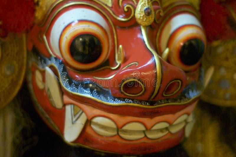 Bella fine della maschera del barong di balinese su fotografia stock libera da diritti