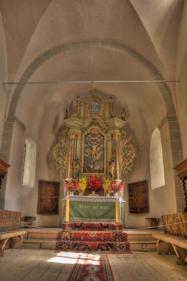 Bella foto di HDR di un interiore della chiesa fotografia stock