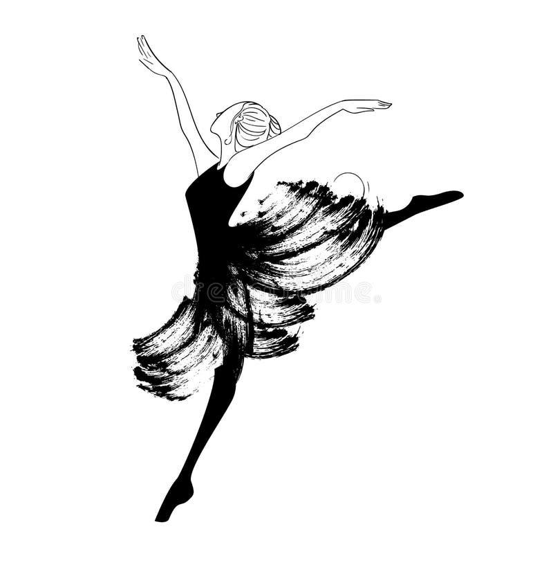Bella giovane ballerina royalty illustrazione gratis