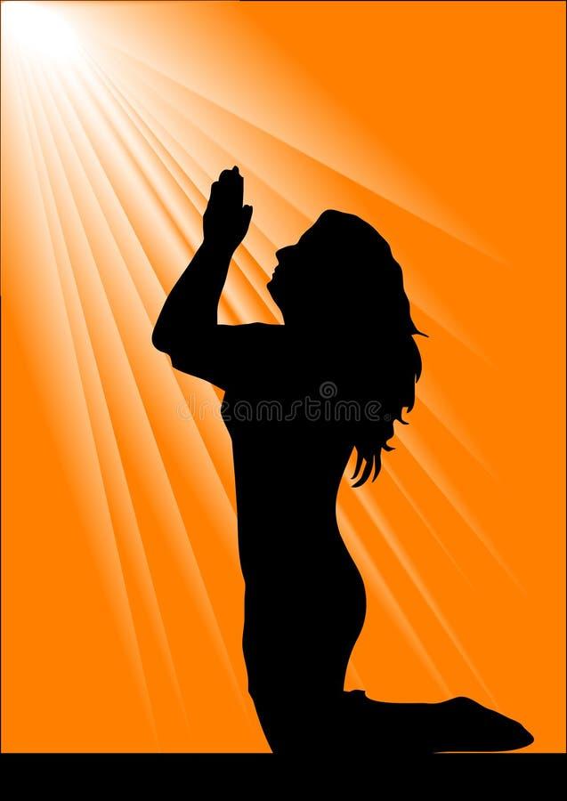 Download Bella giovane donna illustrazione vettoriale. Illustrazione di credenza - 3892632