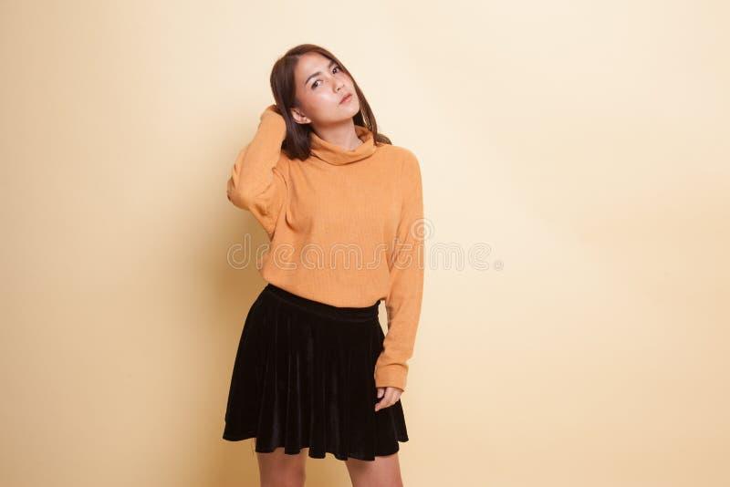 Bella giovane donna asiatica immagini stock