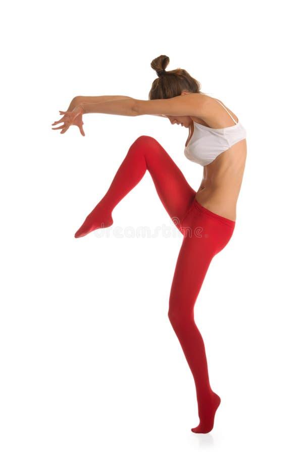 Bella giovane donna ballante fotografie stock libere da diritti