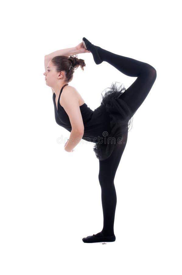 Bella giovane donna della ballerina fotografia stock