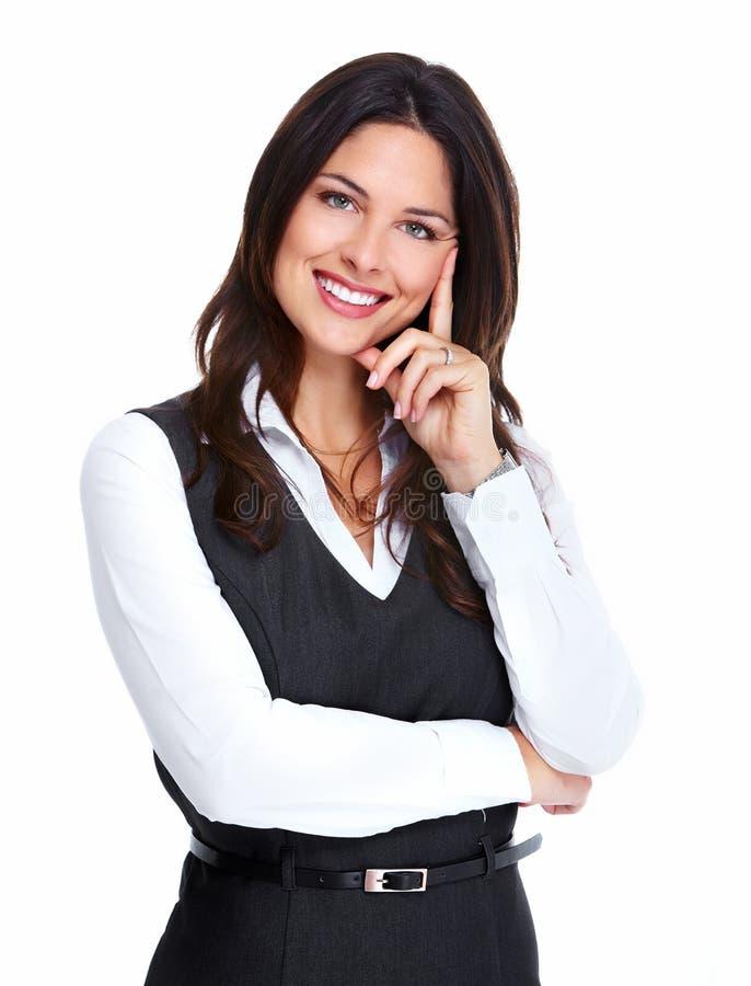 Bella giovane donna di affari. fotografia stock libera da diritti