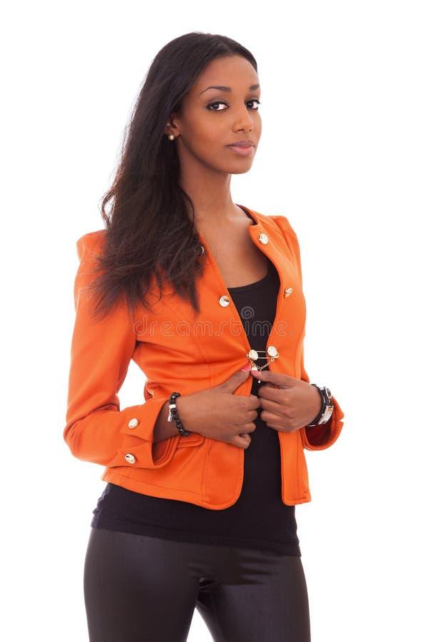Bella giovane donna di colore immagini stock libere da diritti