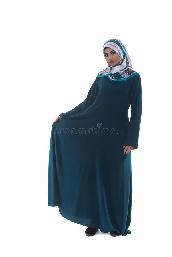 Bella giovane donna musulmana con il sorriso fotografia stock libera da diritti