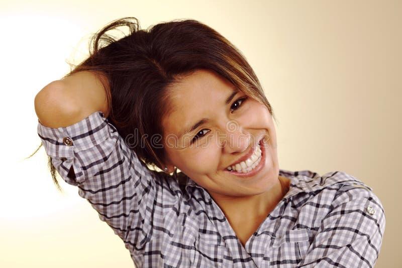 Bella giovane donna peruviana immagini stock