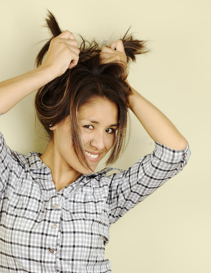 Bella giovane donna peruviana fotografie stock