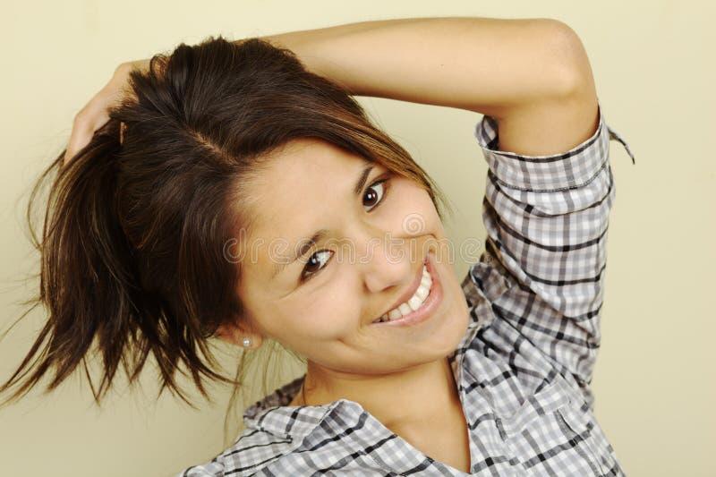 Bella giovane donna peruviana immagine stock libera da diritti