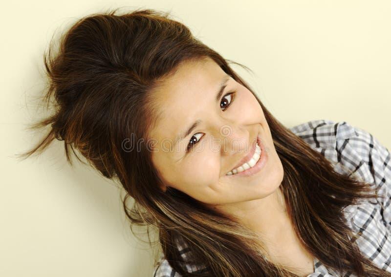 Bella giovane donna peruviana fotografia stock