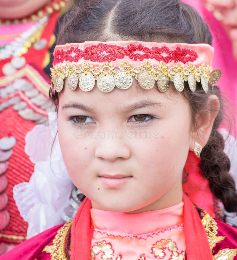 Bella giovane ragazza mongola fotografia stock libera da diritti