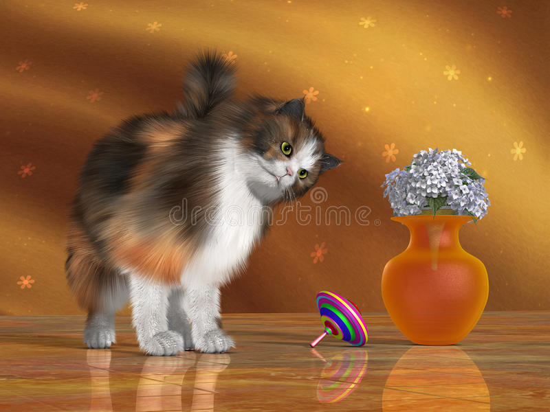 Bella The House Cat Stock Photography