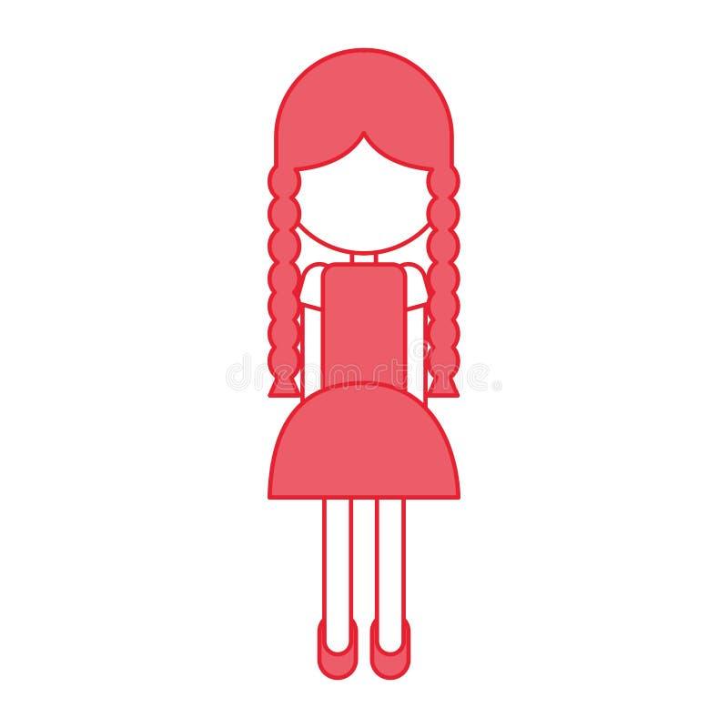 Bella icona dell'agricoltore della ragazza royalty illustrazione gratis