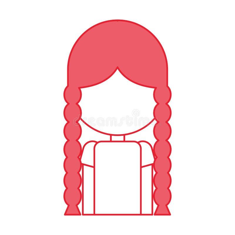 Bella icona dell'agricoltore della ragazza illustrazione di stock