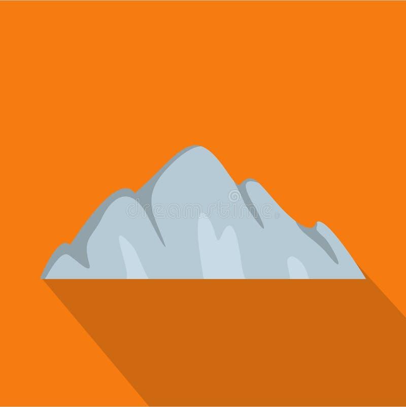 Bella icona della montagna, stile piano royalty illustrazione gratis