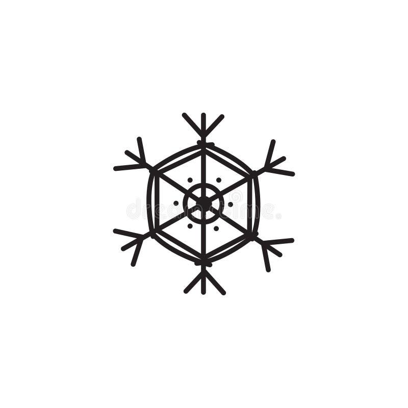 Bella icona semplice di vettore del fiocco di neve fotografia stock libera da diritti
