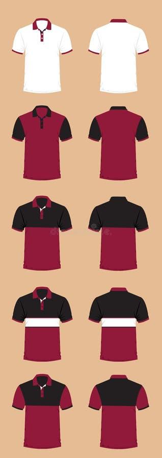 Bella illustrazione di progettazione della maglietta per calcio e l'uniforme fotografia stock