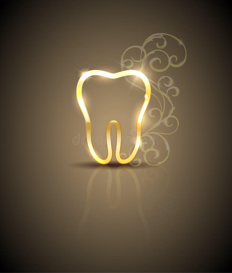 Bella illustrazione dorata del dente royalty illustrazione gratis