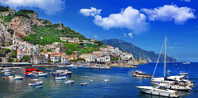 Bella Italien - Amalfi-Küste lizenzfreie stockfotografie