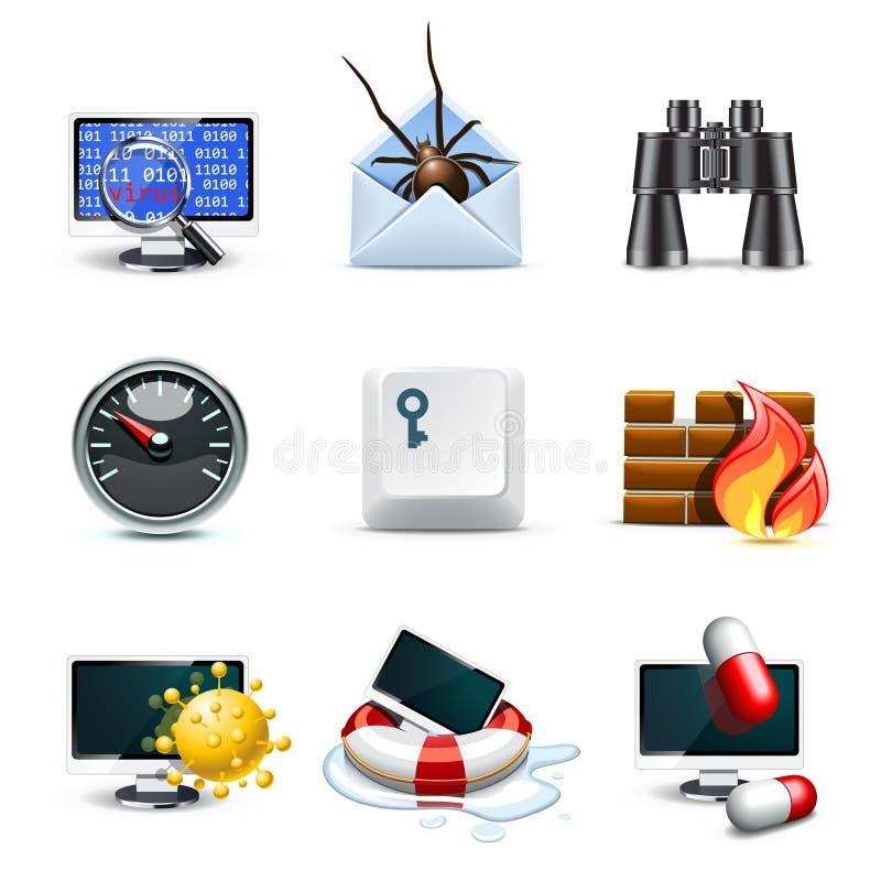 bella komputerowe ikon ochrony serie royalty ilustracja