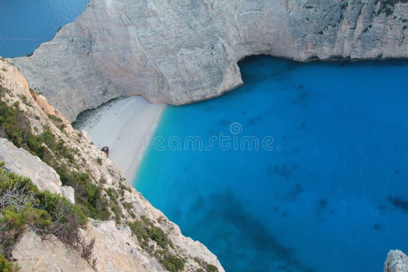 Bella laguna sull'isola di Zacinto fotografie stock libere da diritti