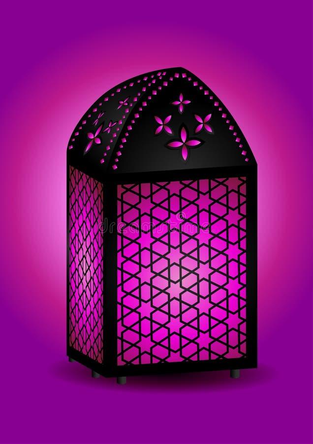 Bella lanterna islamica illustrazione di stock
