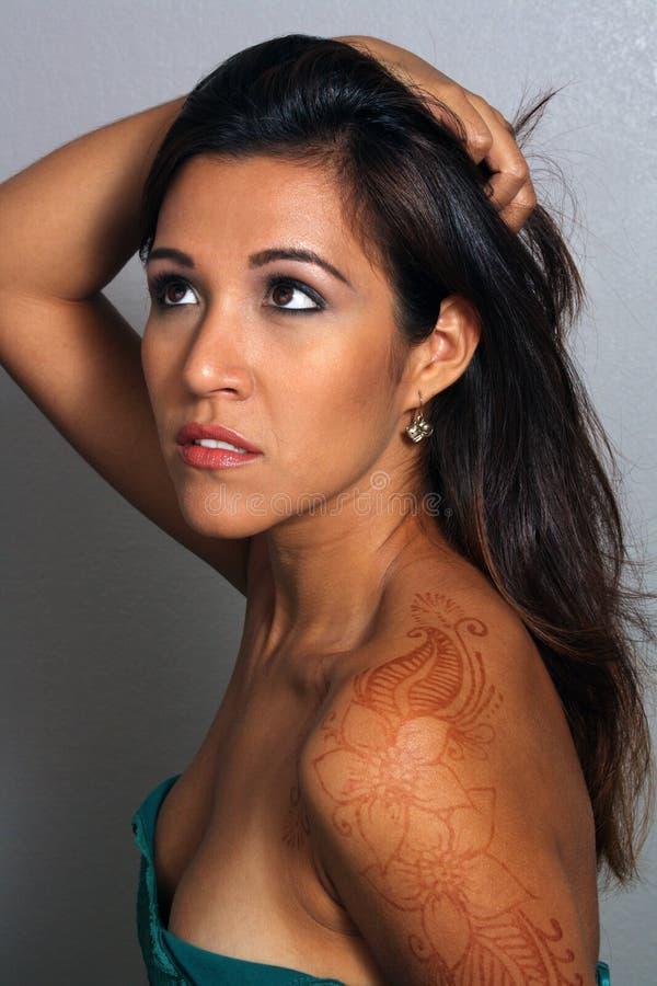 Bella Latina, Headshot (3) immagine stock libera da diritti