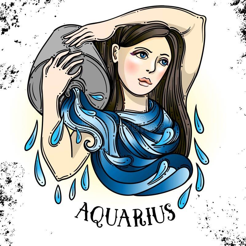 Bella linea simbolo a filigrana dello zodiaco di arte Segno nero su fondo d'annata Tatuaggio elegante dei gioielli Oroscopo incis royalty illustrazione gratis