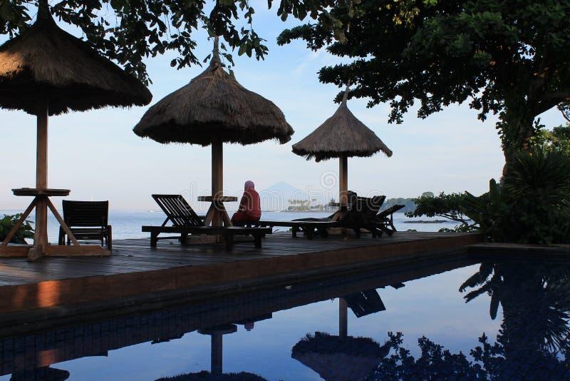 Bella località di soggiorno al lombok di senggigi fotografie stock libere da diritti