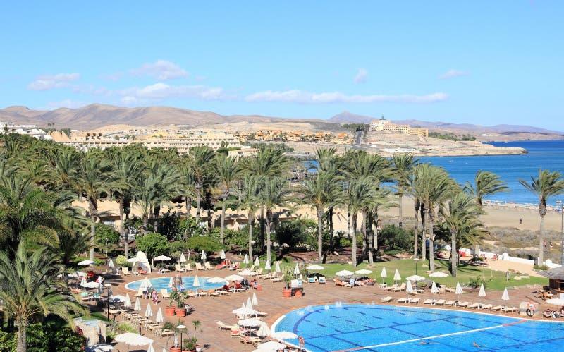 Bella Località Di Soggiorno A Fuerteventura, Isole Canarie. Immagine ...