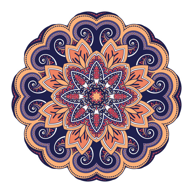Bella mandala colorata Deco di vettore royalty illustrazione gratis