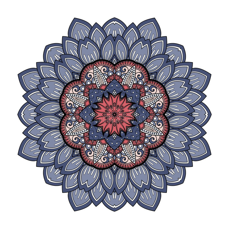 Bella mandala colorata Deco di vettore illustrazione di stock