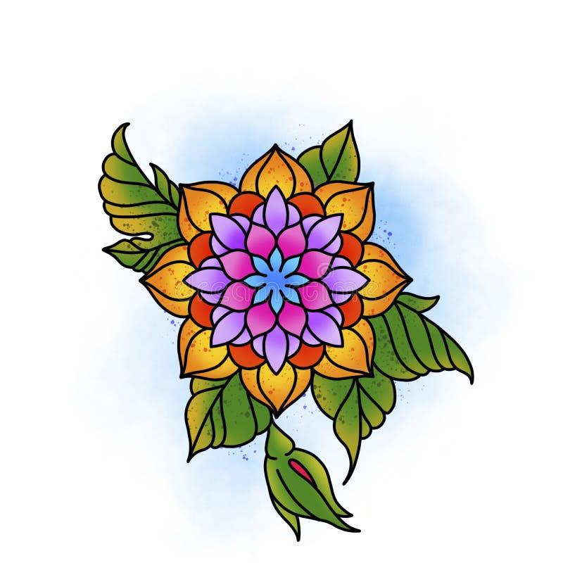 Bella mandala del fiore immagini stock