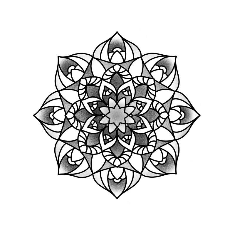 Bella mandala del fiore fotografia stock